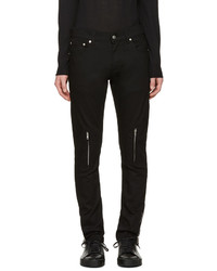 Jean en cuir noir Alexander McQueen