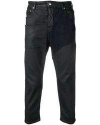 Jean en cuir noir Rick Owens