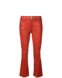 Jean en cuir rouge