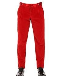 Jean en velours rouge