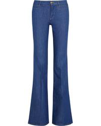 Jean flare bleu