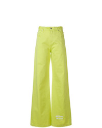 Jean flare chartreuse MSGM