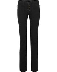 Jean flare noir Saint Laurent