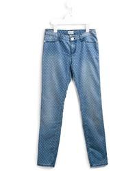 Jean imprimé bleu Armani Junior