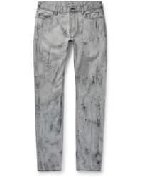 Jean imprimé gris