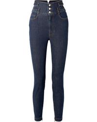 Jean orné bleu marine Dolce & Gabbana