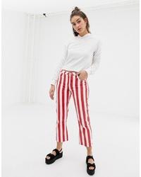 Jean rouge et blanc Glamorous