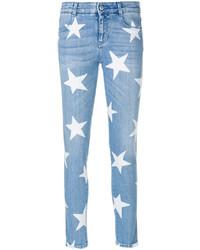 Jean skinny à étoiles bleu clair Stella McCartney