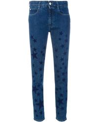 Jean skinny à étoiles bleu marine Stella McCartney