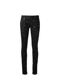 Jean skinny à étoiles noir