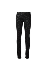 Jean skinny à étoiles noir Saint Laurent