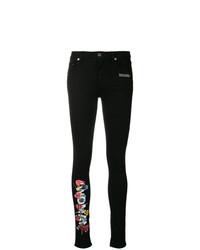 Jean skinny à fleurs noir Off-White