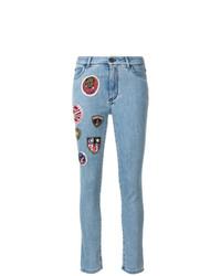 Jean skinny à patchwork bleu clair Mr & Mrs Italy