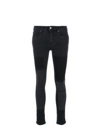 Jean skinny à patchwork noir Victoria Victoria Beckham