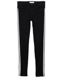 Jean skinny à rayures verticales noir Mango