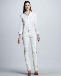 Jean skinny blanc et noir
