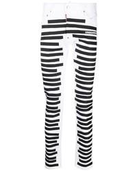 Jean skinny blanc et noir DSQUARED2