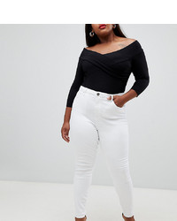 Jean skinny blanc Asos Curve