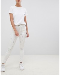Jean skinny blanc ASOS DESIGN