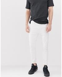 Jean skinny blanc Bershka
