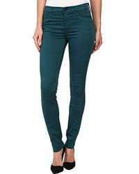 Jean skinny bleu canard