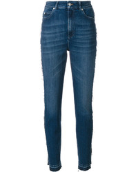 Jean skinny bleu canard Alexander McQueen