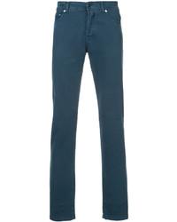 Jean skinny bleu canard Kiton
