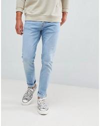 Jean skinny bleu clair Bershka