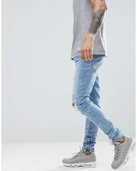Jean skinny bleu clair Criminal Damage
