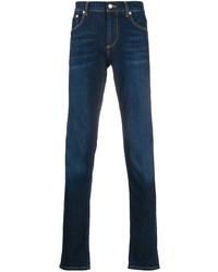 Jean skinny bleu marine Alexander McQueen