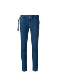 Jean skinny bleu marine Miu Miu