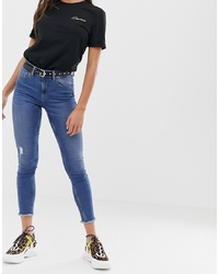 Jean skinny bleu Pieces