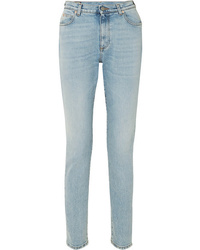 Jean skinny brodé bleu clair Gucci