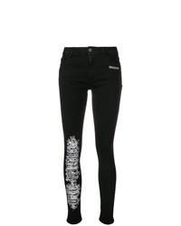Jean skinny brodé noir Off-White