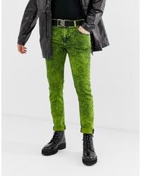 Jean skinny chartreuse ASOS DESIGN