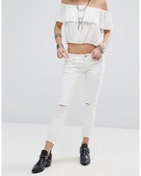 Jean skinny déchiré blanc Free People