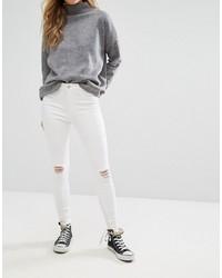 Jean skinny déchiré blanc New Look