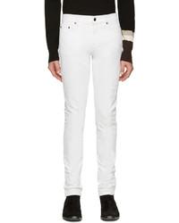 Jean skinny déchiré blanc Saint Laurent