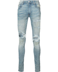Jean skinny déchiré bleu clair
