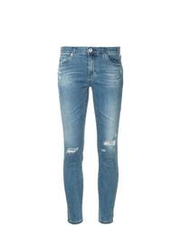 Jean skinny déchiré bleu clair AG Jeans