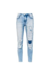Jean skinny déchiré bleu clair Amapô