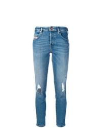 Jean skinny déchiré bleu clair Diesel