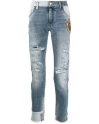 Jean skinny déchiré bleu clair Dolce & Gabbana
