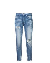 Jean skinny déchiré bleu clair Moussy Vintage
