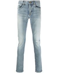 Jean skinny déchiré bleu clair Saint Laurent