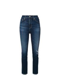 Jean skinny déchiré bleu marine AG Jeans