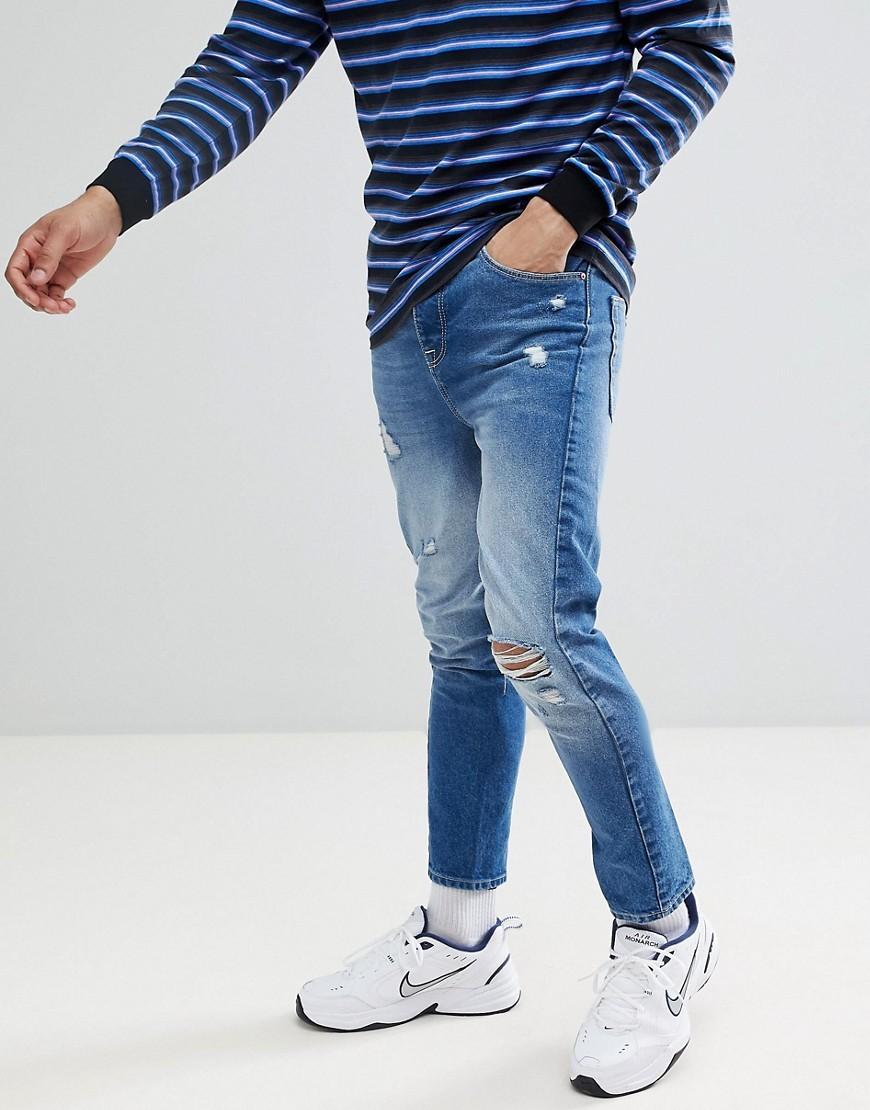 Jean skinny déchiré bleu ASOS DESIGN