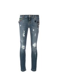 Jean skinny déchiré bleu Dolce & Gabbana