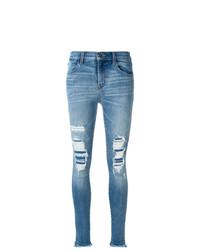 Jean skinny déchiré bleu J Brand