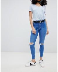 Jean skinny déchiré bleu New Look